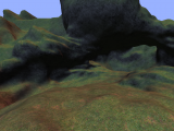 Triplanar texture projection on the terrain system