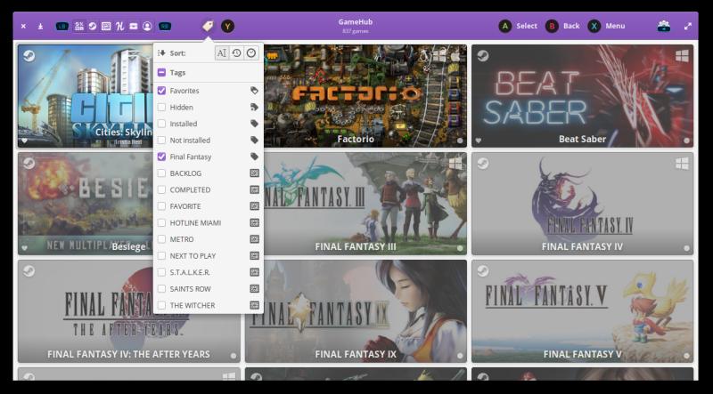 GameHub - Le Bottin des Jeux Linux