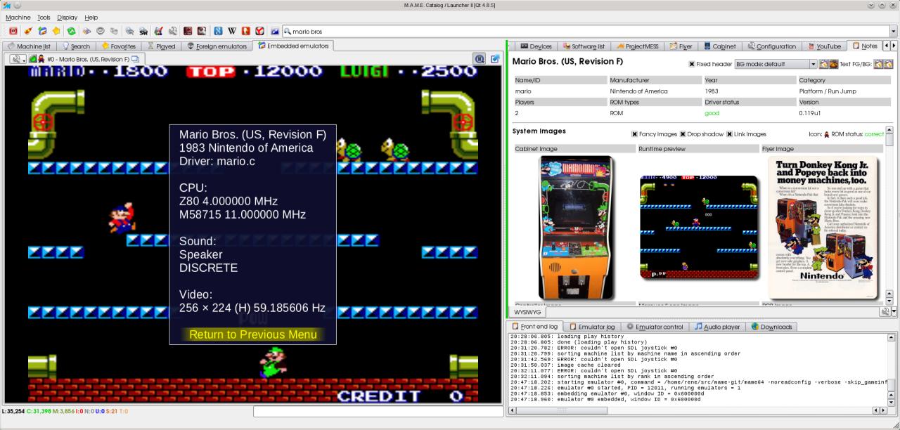 QMC2 - Le Bottin des Jeux Linux