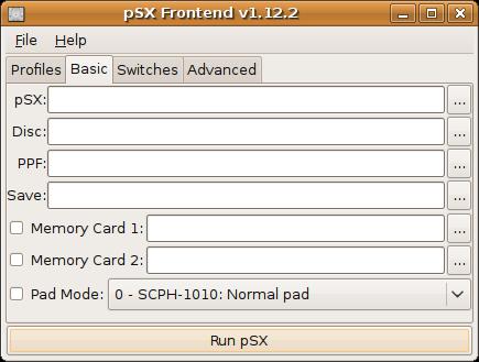 pSX Frontend - Le Bottin des Jeux Linux