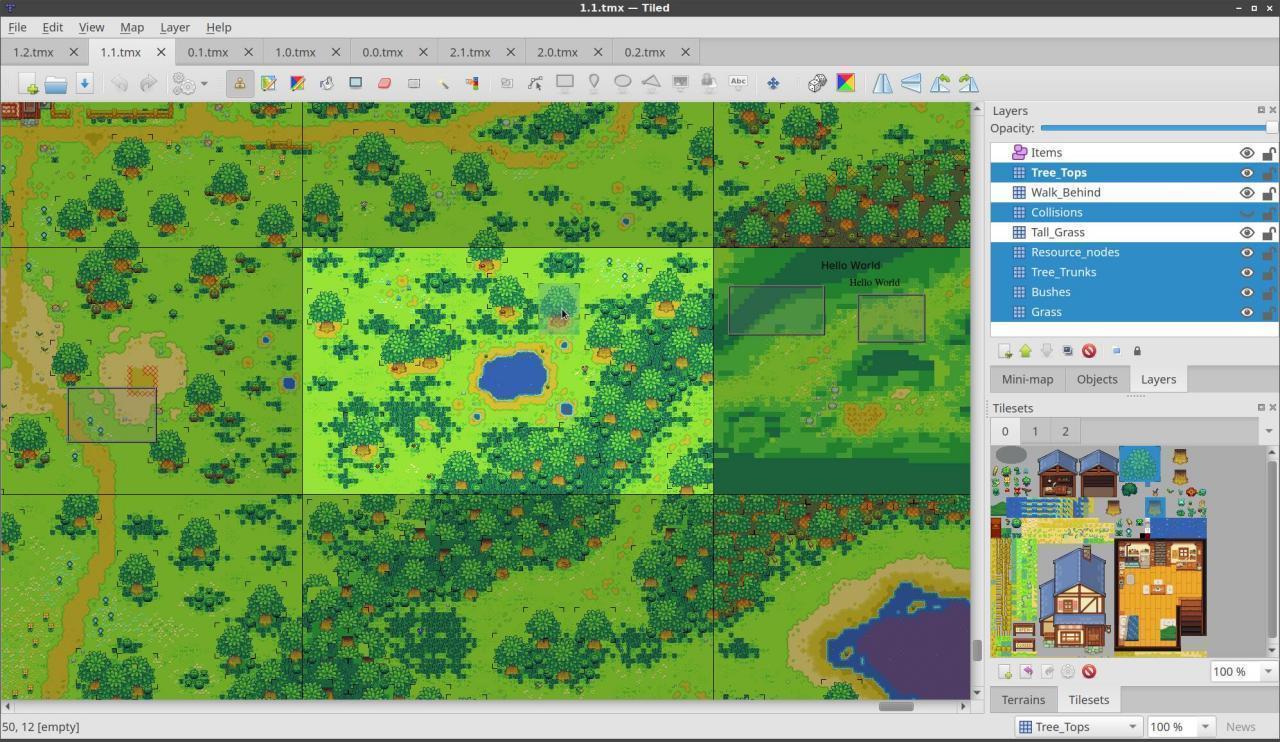 Tiled - Le Bottin des Jeux Linux
